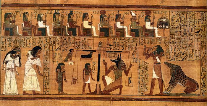 Tribunal d'Osiris, Égypte antique