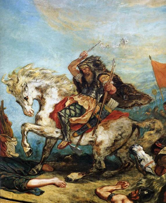 Attila le Huns, Eugène Delacroix