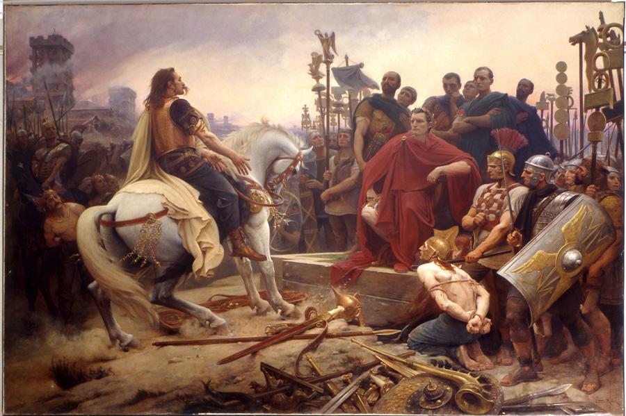Versingétorix devant Jules César, Europe, antiquité