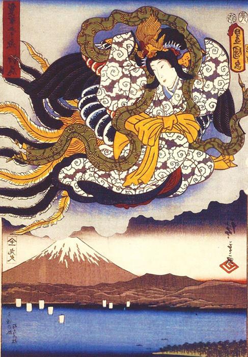 Déesse du soleil, Japon antique
