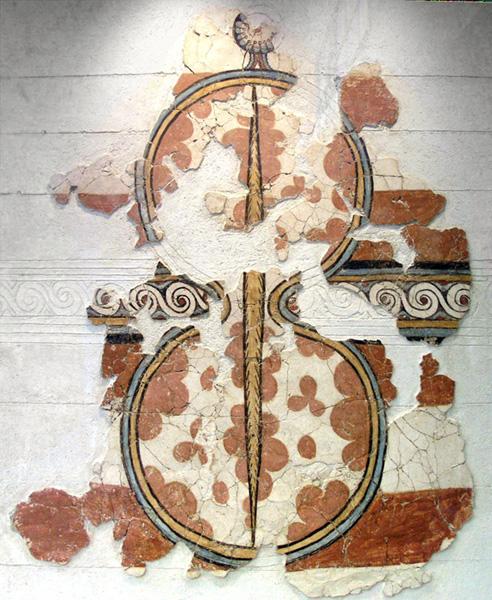 Bouclier mycénien, Grèce antique