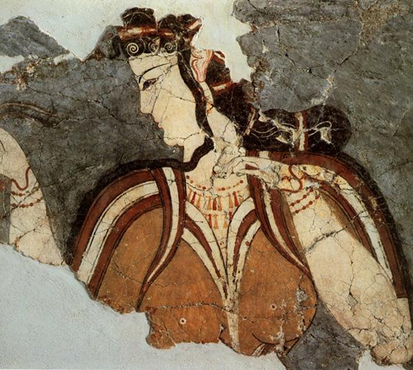 Femme mycénienne, Grèce antique