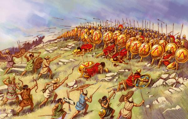 Soldats spartiates, Grèce antique