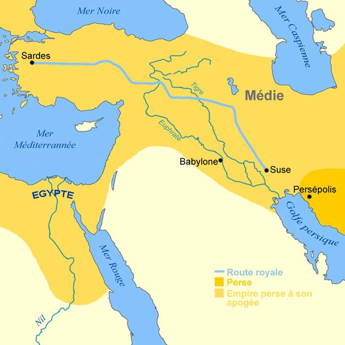Carte Empire perse
