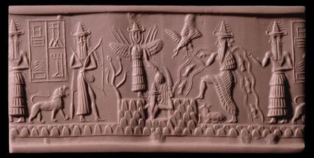 Scène mythologique en Mésopotamie