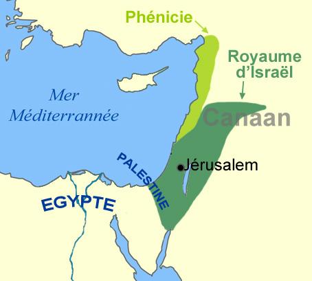 Carte Peuples de la mer, Hébreux, Israël