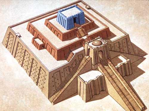 Ziggurat d'Ur en Mésopotamie