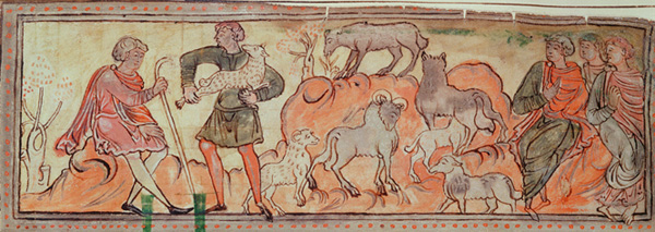 Moutons Anglo-Saxons au Moyen-âge en Angleterre