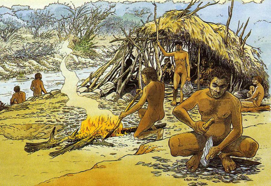 Homo erectus feux naturels