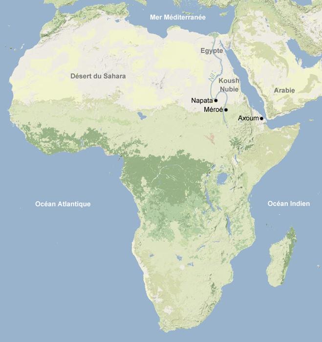 Carte Afrique ancienne, antiquité