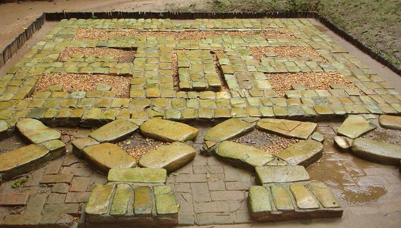 Mosaïc en argile, Olmèques pendant l'antiquité
