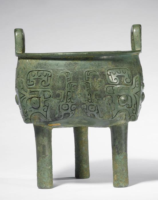 Chaudron en bronze, Chine antique