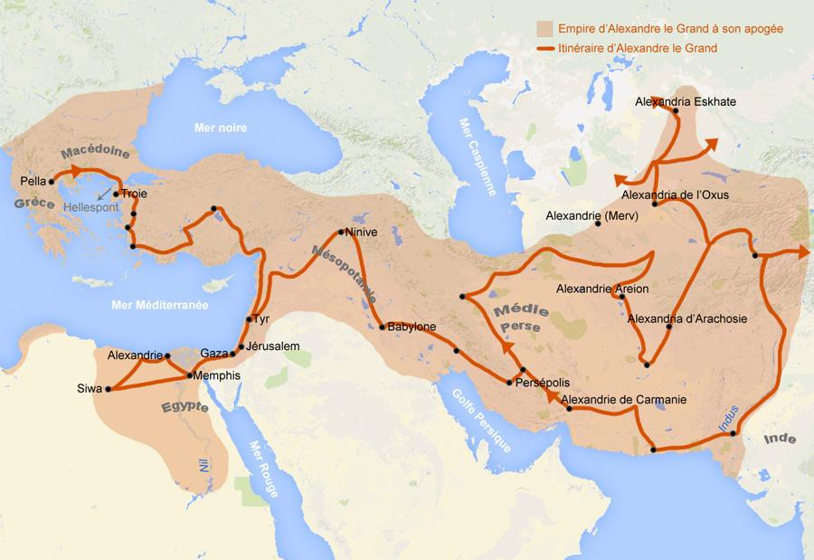 Empire Alexandre le Grand, Grèce antique