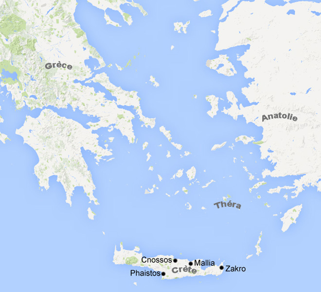 Carte Civilisation minonéenne, Grèce antique