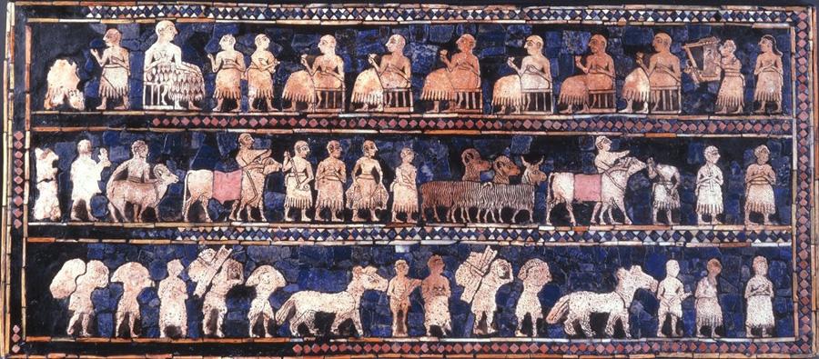 Étendard d'Ur en Mésopotamie