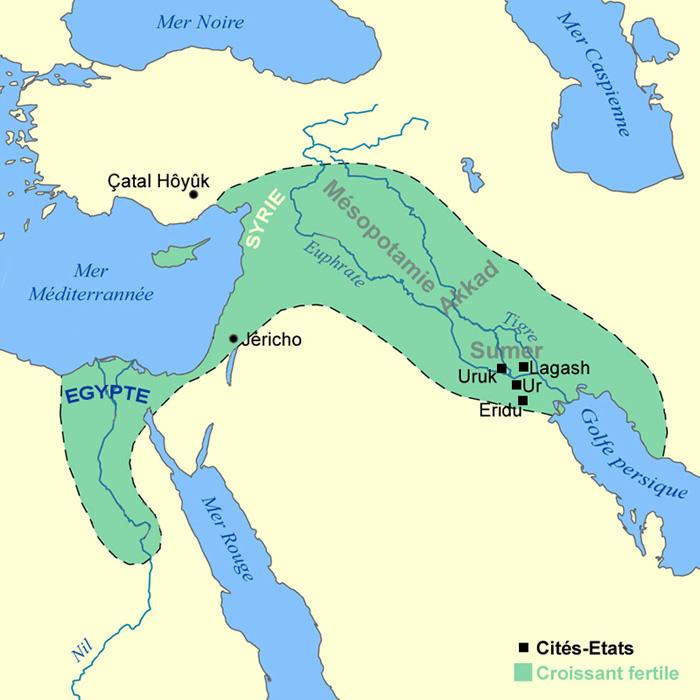 croissant fertile Mésopotamie