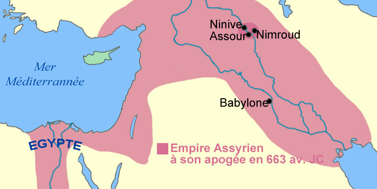 Carte Empire assyrien antiquité