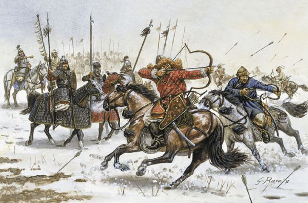 Cavaliers huns, Rome antique