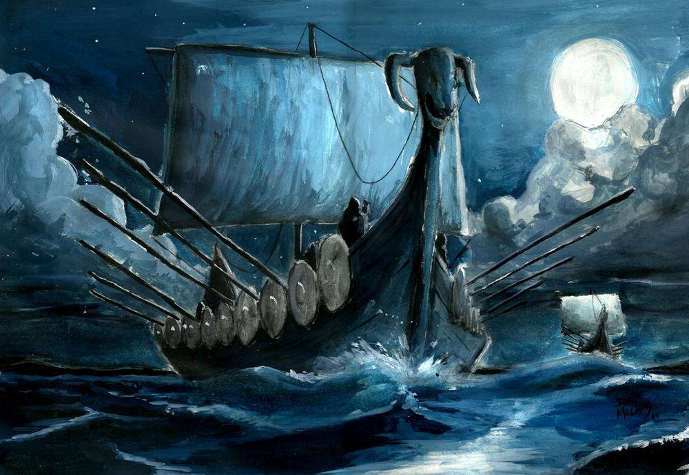 Drakkar Viking, Europe, Moyen-âge