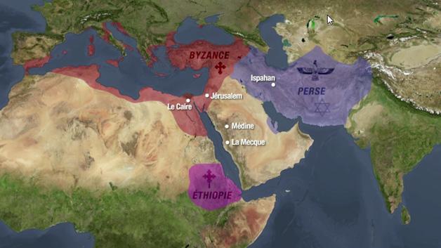 Carte religion musulmane, fondation islam