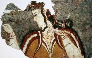 Civilisation mycénienne en Grèce pendant l'antiquité