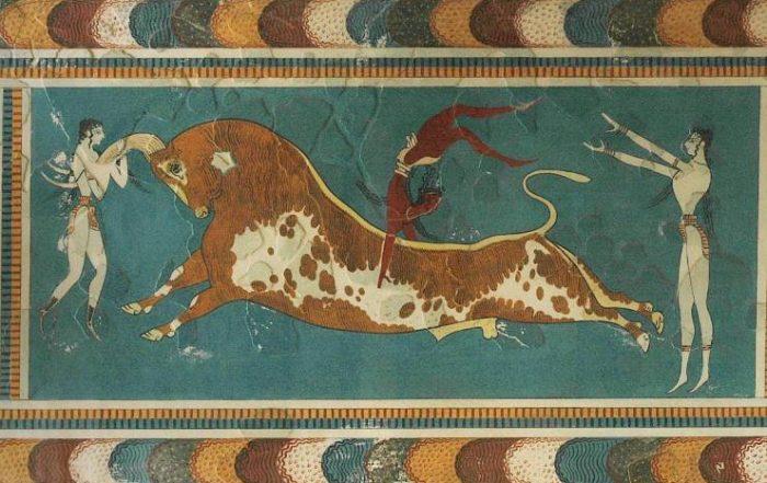 Civilisation minoenne en Grèce pendant l'antiquité
