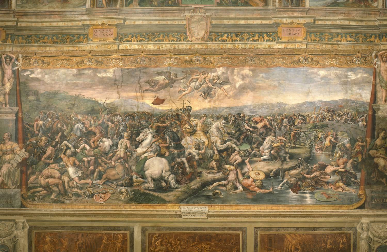 Bataille du Pont Milvius par Guilio Romano