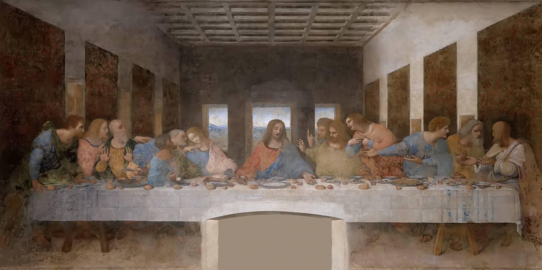 La cène de Léonard De Vinci - Jésus Christ
